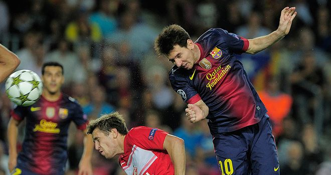 Lionel Messi: Scored twice in Barcelona's 3-2 victory over Spartak Moscow
