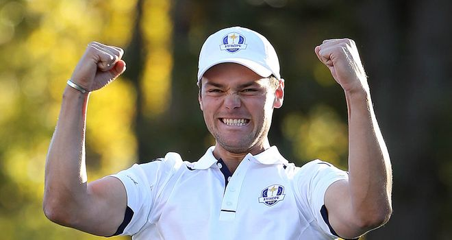 Kaymer: the German holed the decisive putt for Team Europe at Medinah