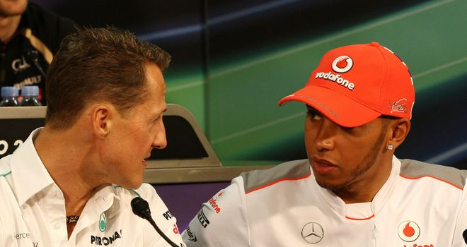 Replacement: Lewis Hamilton joins Mercedes in place of Michael Schumacher