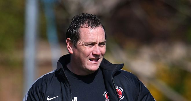 Micky Mellon: Delighted with Joey Barton's spell with Fleetwood Town