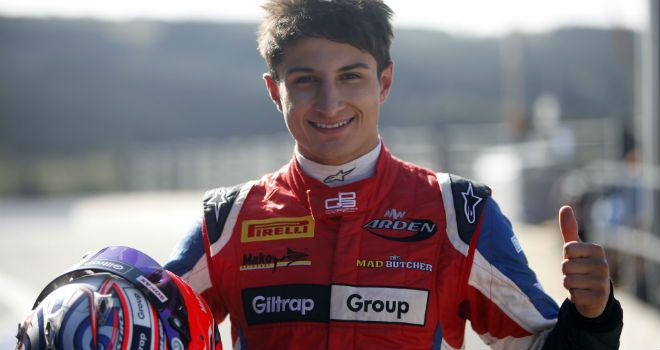 Mitch Evans: On pole at Spa (Image: GP3 Series Media)