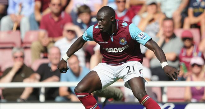 Diame: Was a key man for West Ham until his injury
