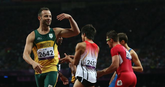 Oscar Pistorius: broke the world record with a time of 21.30 in the Men's 200m - T44 heats