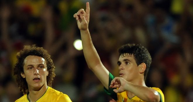 Oscar: Relishing the chance to take on England at Wembley