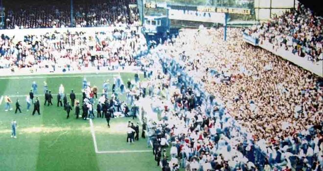 The tragic scene at Hillsborough unfolds 23 years ago
