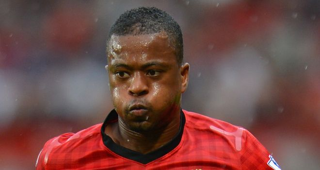 Patrice Evra: French left-back is back in training for Manchester United