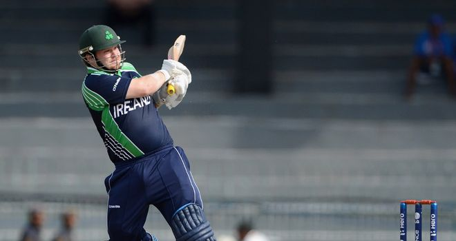 Paul Stirling: Top-scored for Ireland with 65 on day three