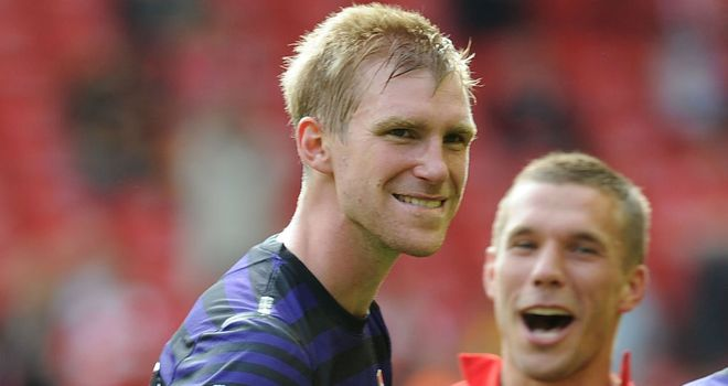 Per Mertesacker: Part of the defence which has helped to keep three clean sheets so far this season