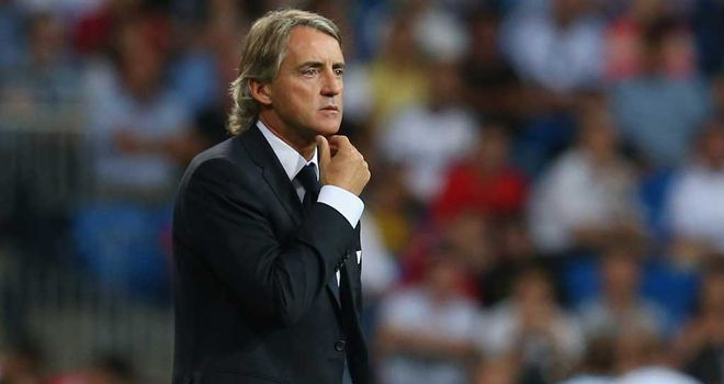 Roberto Mancini: Manchester City boss saw his side beaten by Aston Villa