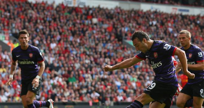 Santi Cazorla: The Spaniard impressed again at Anfield and opened his Arsenal goal account