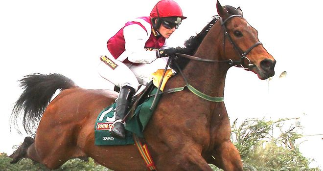 Seabass in action in the Grand National