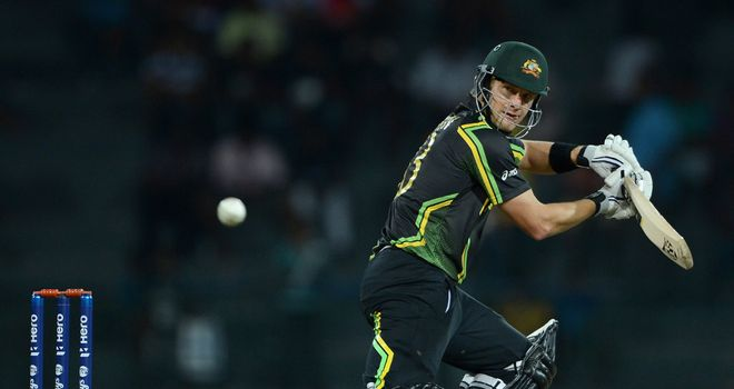 Shane Watson: Scored 41 not out before rain intervened