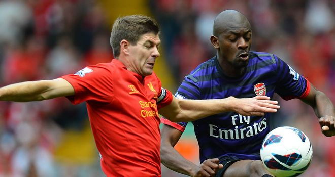 Abou Diaby: The midfield powerhouse was magnificent in Arsenal's win at Liverpool
