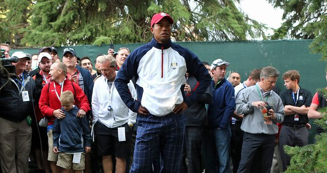 Tiger Woods: apologised to the four Ryder Cup rookies on the US team after failing to pick up a point at Medinah