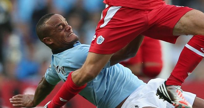 Vincent Kompany: Happy with City's defence