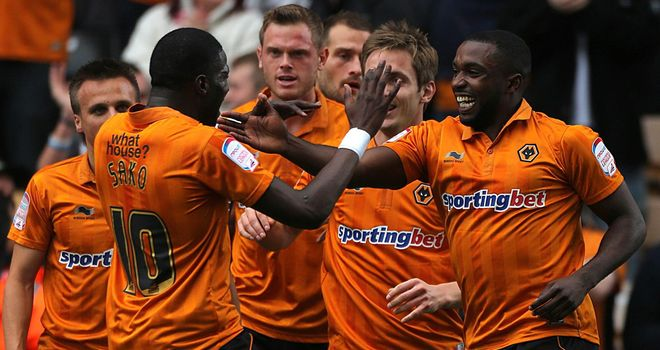 Ebanks-Blake: Celebrates Wolves' opener