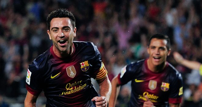 Xavi: Returned to training after recovering from a thigh injury
