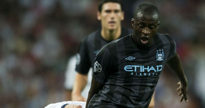 Yaya Toure: The star midfielder thinks Manchester City are getting up to speed in the Champions League