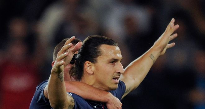 Zlatan Ibrahimovic: Bagged a brace for PSG but they were forced to settle for a point