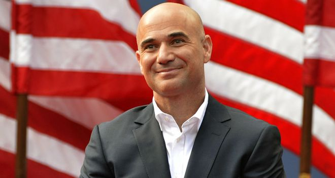 Andre Agassi: saw Murray follow in his footsteps by becoming US Open champion