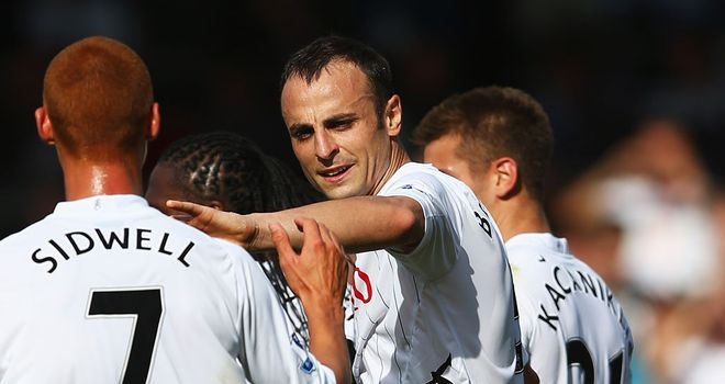 Dimitar Berbatov: Scored twice on his home debut but now out for Fulham