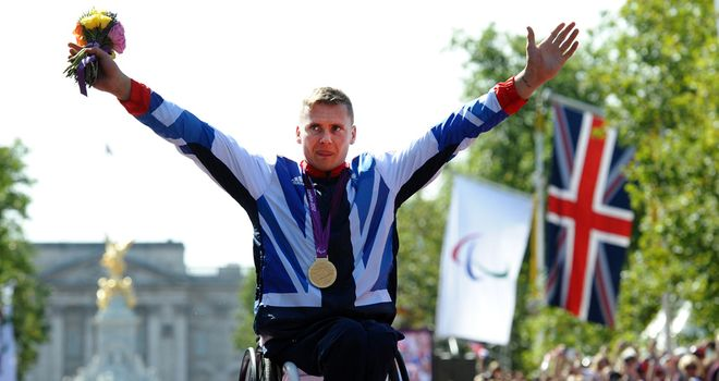 David Weir: claimed four of Great Britain's 18 gold medals at the Games in London