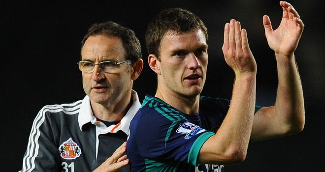 Martin O'Neill: Sunderland manager backed by Craig Gardner