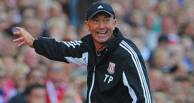 Tony Pulis: Stoke boss has a poor record at Old Trafford