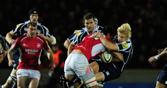 David Seymour: Making a tackle against London Welsh this season