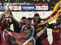 West Indies celebrate their victory in the 2012 tournament