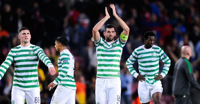 Joe Ledley: Claps the supporters but is hoping to be celebrating a last 16 place