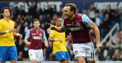 Noble: Bagged a brace in win over Southampton