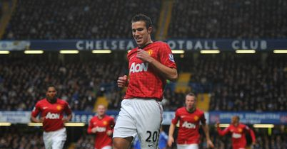 Van Persie: Celebrates goal for United