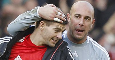 Steven Gerrard and Pepe Reina: Not in the best of form this season