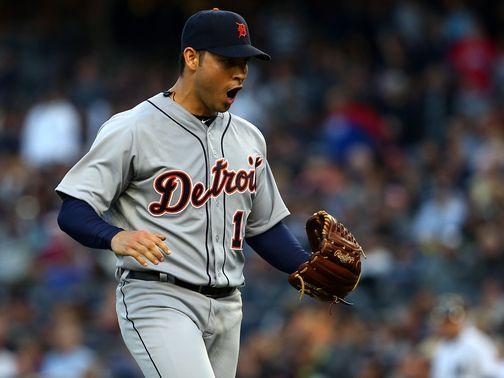 Anibal Sanchez enjoys Detroit&#39;s win.