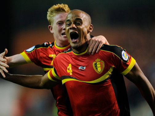 Vincent Kompany scored Belgium's second goal