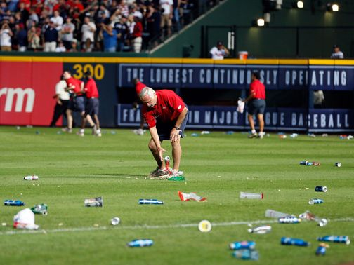 A clear-up was needed in Atlanta after fans were enraged