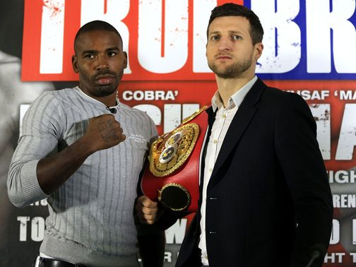 Yusaf Mack (l) has riled rival Carl Froch