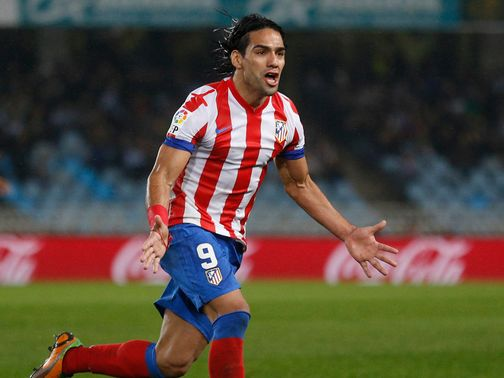 Falcao: Has been linked with a January move to Chelsea