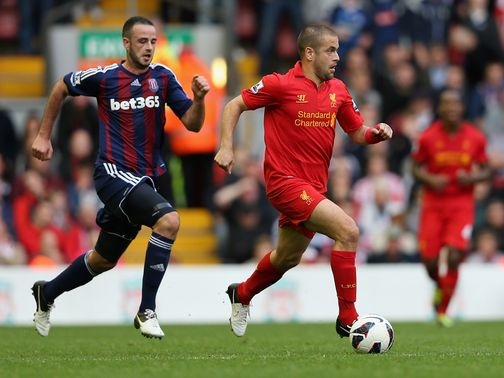 Joe Cole returned for Liverpool against Stoke.