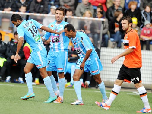Adrian Mutu scored twice as Ajaccio beat Lyon 3-1.