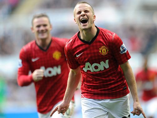 Tom Cleverley: Finally in the goals for Manchester United