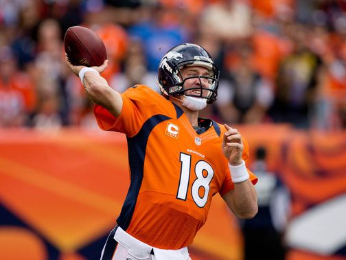 Manning in action on Sunday