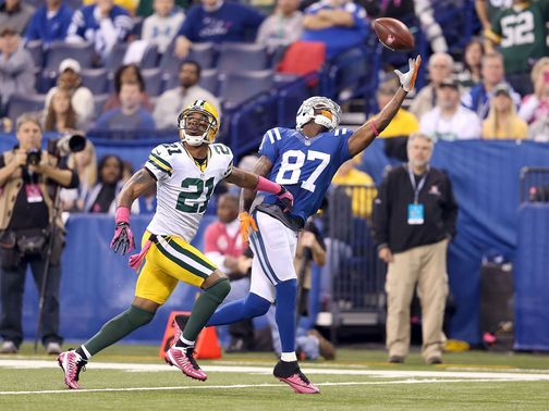 Reggie Wayne takes a spectacular one-handed catch