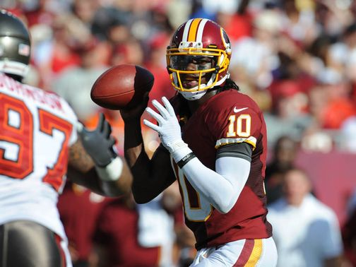 Robert Griffin III in action on Sunday