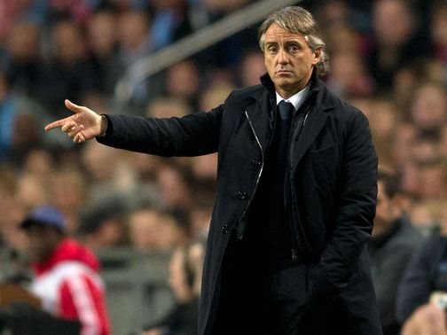 Roberto Mancini: His Manchester City side take on Ajax