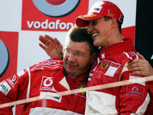Brawn and Schumacher enjoyed lots of success at Ferrari.
