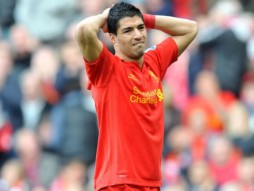 Luis Suarez: Went to ground against Stoke on Sunday