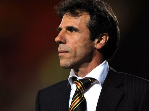 Gianfranco Zola: Pleased with first-half showing