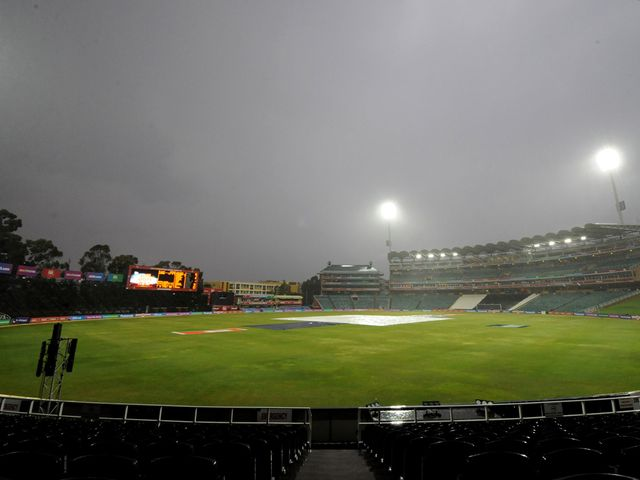 The weather closed in at Johannesburg